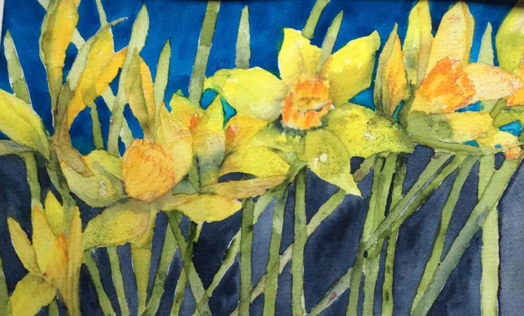 Daffodils--by-Carol-Whitehouse--SOLD