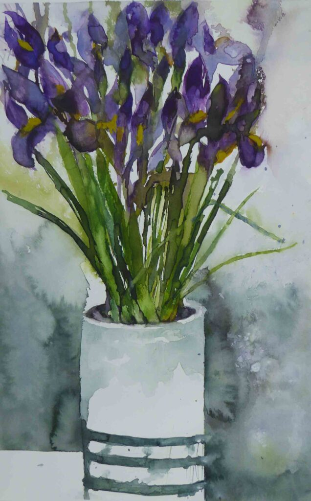 Irises-in-a-White-Vase-by-Carol-Whitehouse