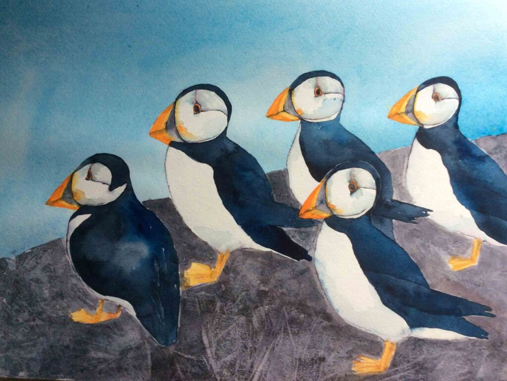Puffins-by-Carol-Whitehouse---SOLD
