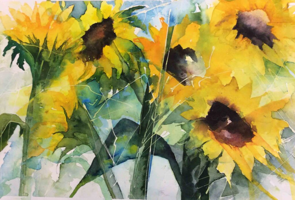 Sunflowers-in-the-Field-by-Carol-Whitehouse---SOLD