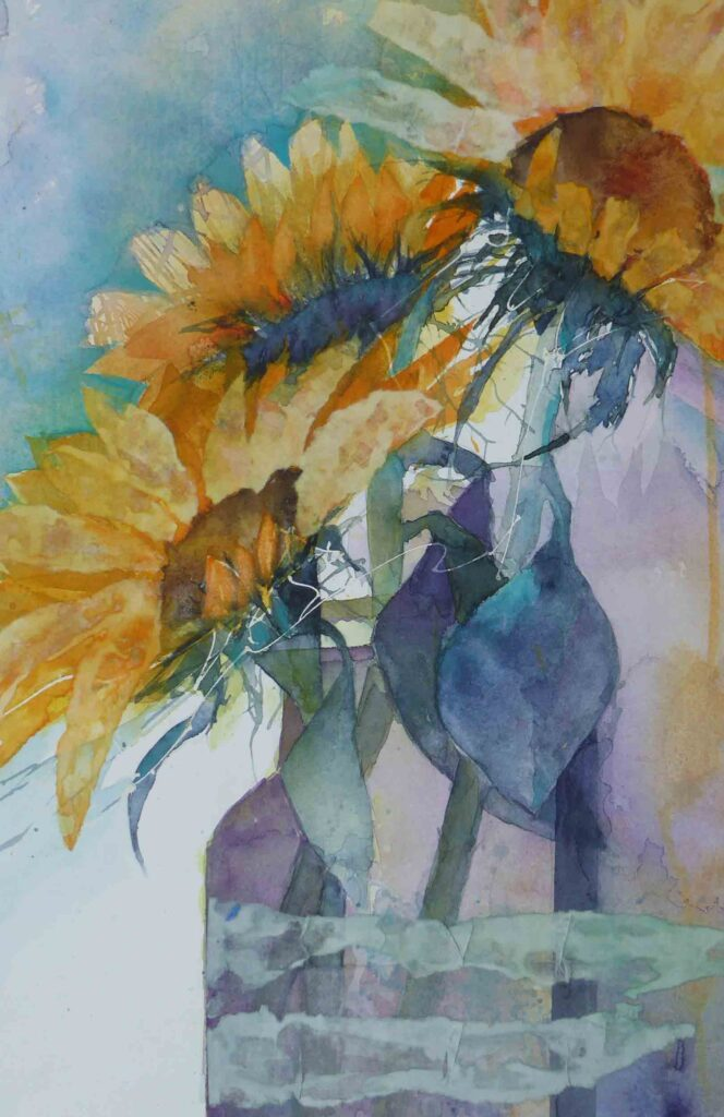 Vase-of-Sunflowers-by-Carol-Whitehouse