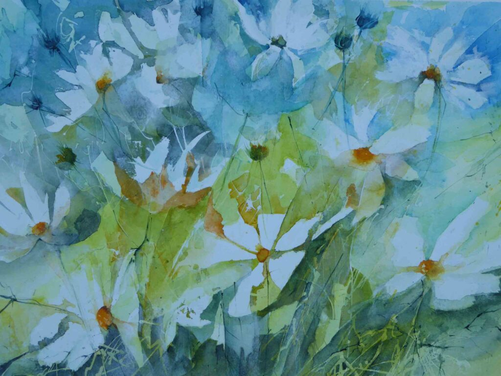 White-Cosmos-by-Carol-Whitehouse---Sold