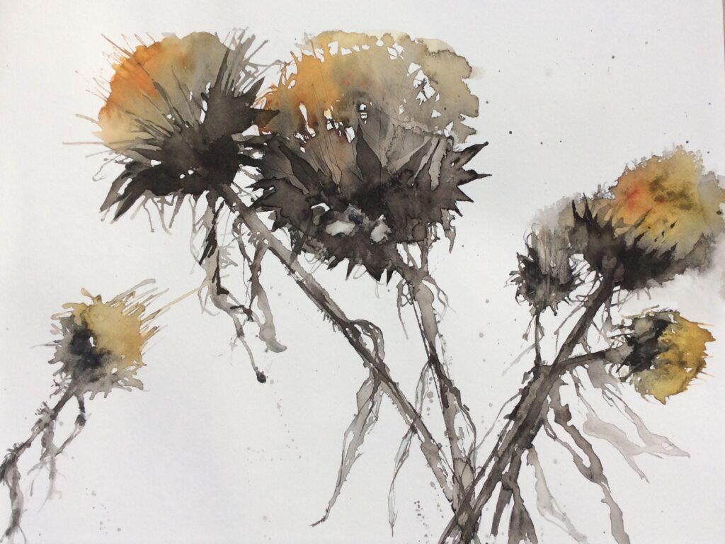 Artichoke Seed Heads by Carol Whitehouse