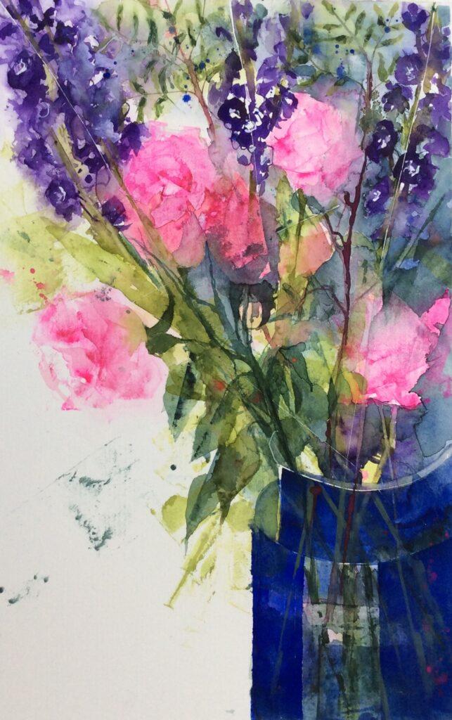 Birthday Flowers by Carol Whitehouse