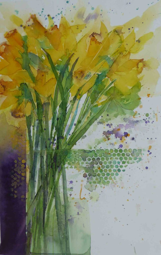 Daffodils-and-Dots-greetings-card