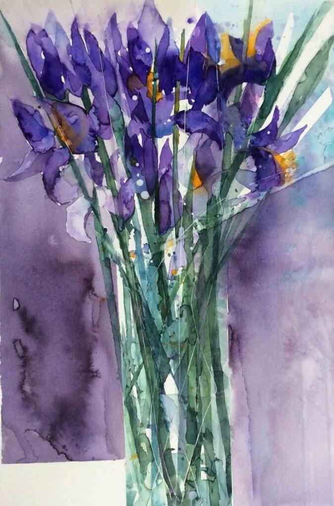 Irises-greetings-card