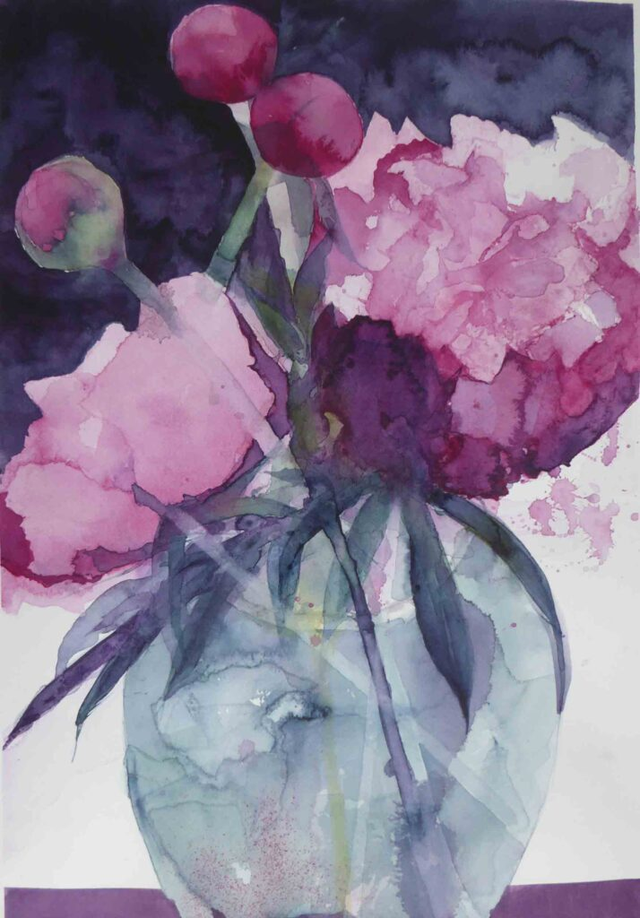 Peonies-in-a-Blue-Vase-greetings-card
