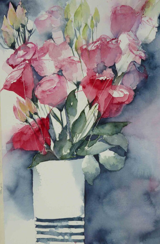 Pink-Lisianthus-greetings-card
