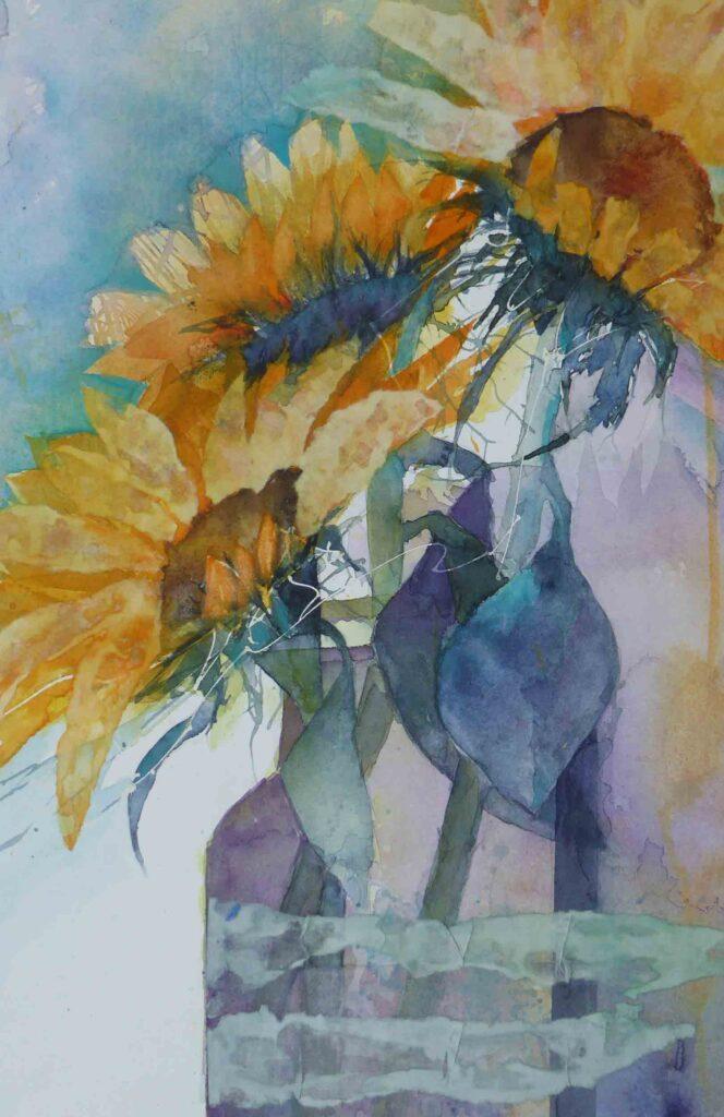 Vase-of-Sunflowers-greetings-card