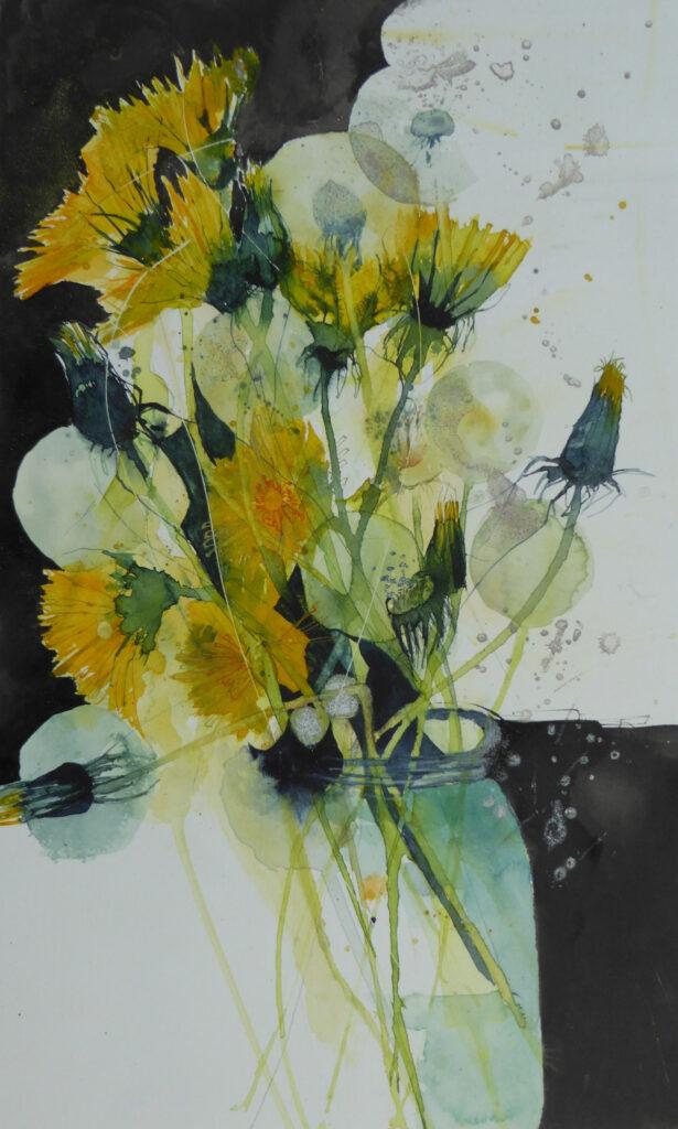 Dandelions-in-a-Jam-Jar-greetings-card-by-Carol-Whitehouse