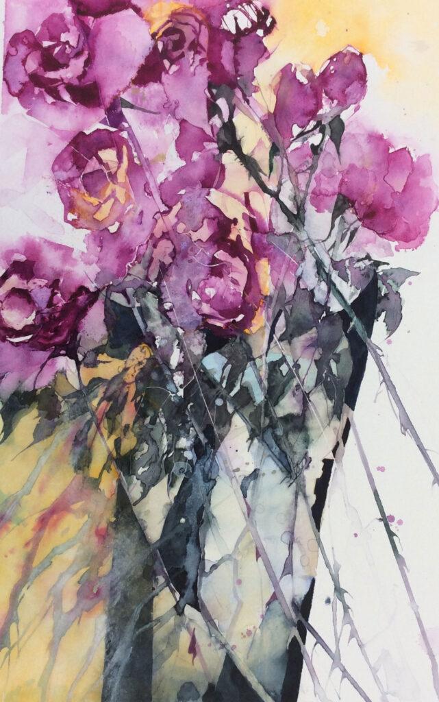 Long-Stemmed-Roses-by-Carol-Whitehouse